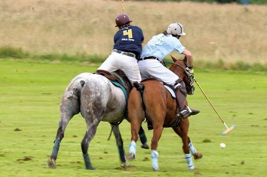 Stock Photo: 1848-484783 Polo players battling for the ball, polo, polo players, polo tournament, Berenberg High Goal Trophy 2009, Thann, Holzkirchen, Upper Bavaria, Bavaria, Germany, Europe