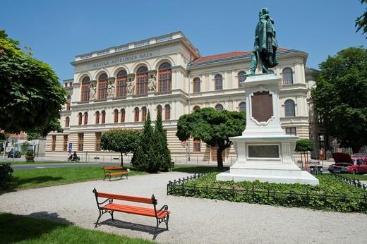 Stock Photo: 1848-485559 Magyar Mueveloedes Haza, concert hall, Liszt House, Sopron, Hungary, Europe