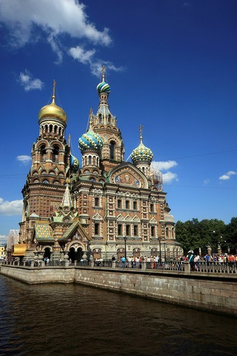 Stock Photo: 1848-485965 Church of the Savior on Spilled Blood, St. Petersburg, Russia, Europe