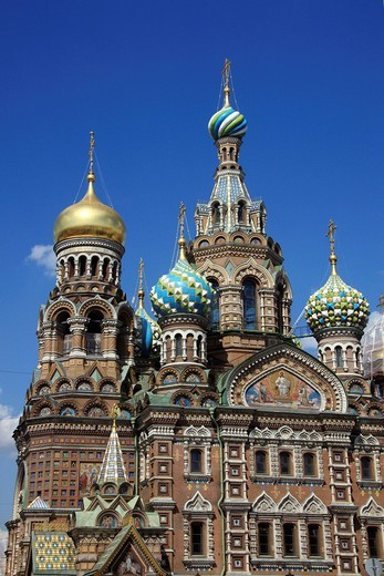 Stock Photo: 1848-485966 Church of the Savior on Spilled Blood, St. Petersburg, Russia, Europe