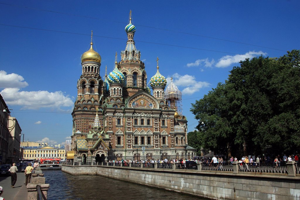 Stock Photo: 1848-485967 Church of the Savior on Spilled Blood, St. Petersburg, Russia, Europe