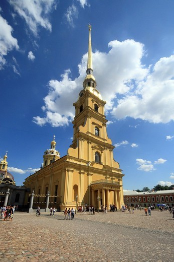 Peter and Paul Cathedral, St. Petersburg, Russia, Europe : Stock Photo