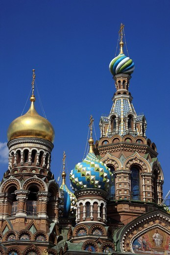 Church of the Savior on Spilled Blood, St. Petersburg, Russia, Europe : Stock Photo