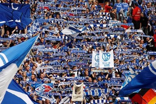 Stock Photo: 1848-486305 Last home match of the season of FC Schalke 04 against Werder Bremen 0:2, Veltins Arena, formerly Arena AufSchalke, home stadium of FC Schalke 04, Gelsenkirchen, North Rhine_Westphalia, Germany, Europe