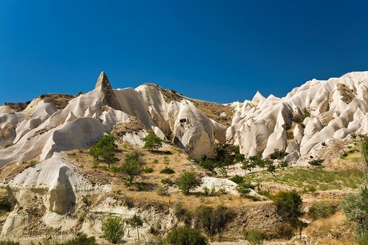Rock Valley, tuff rock landscape near Goereme, Cappadocia, Central Anatolia, Turkey, Asia : Stock Photo