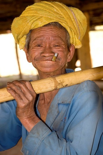 Stock Photo: 1848-486963 Man with a funny grimace, Myanmar, Burma, Southeast Asia