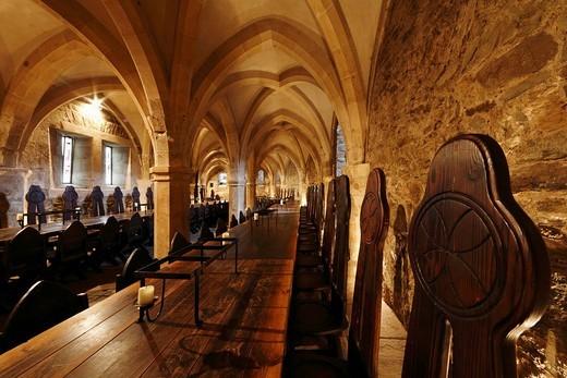 Stock Photo: 1848-48758 Knight´s Hall at Lockenhaus Castle, Burgenland, Austria, Europe