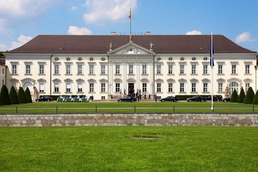 Schloss Bellevue, Bellevue Palace, Berlin, Germany, Europe : Stock Photo