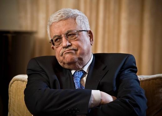 Mahmoud Abbas, chairman of the Palestine Liberation Organization PLO, Berlin, Germany, Europe : Stock Photo