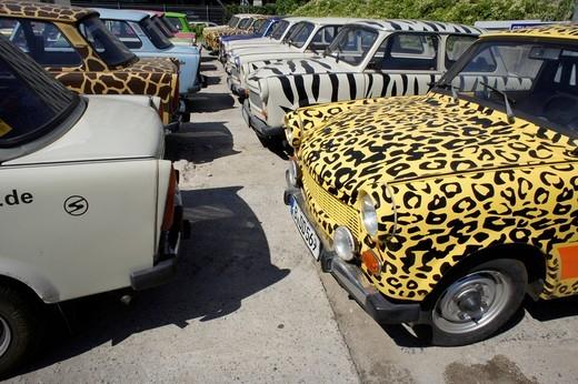 Trabant safari, Berlin, Germany, Europe : Stock Photo