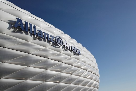 Allianz Arena football stadium, Munich, Bavaria, Germany, Europe : Stock Photo