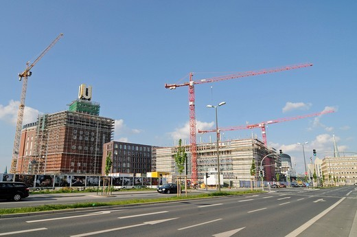 U_tower, former Union Brewery, cultural center, center for art and culture, building site, landmark, Capital of Culture 2010 Ruhr, Dortmund, Ruhrgebiet region, North Rhine_Westphalia, Germany, Europe : Stock Photo