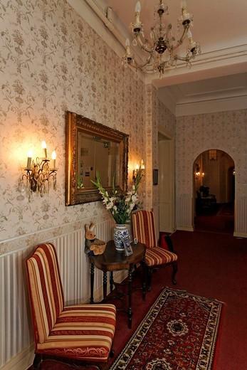Stock Photo: 1848-489412 Nostalgic interior, former home of silent film star Asta Nielsen, today Pension Funk, Fasanenstrasse, Charlottenburg district, Berlin, Germany, Europe