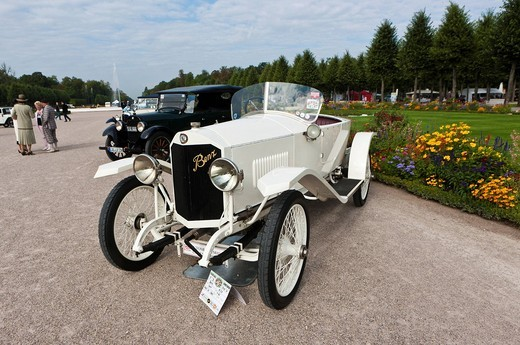 Benz Model 8/20, built in 1918, Germany, Classic_Gala, Concours d´Elegance in the Baroque castle gardens, Schwetzingen, Baden_Wuerttemberg, Germany, Europe : Stock Photo