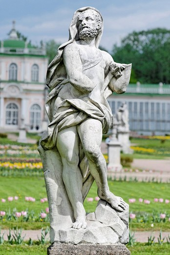 Stock Photo: 1848-49168 Classical marble statue in the Kuskovo Park, Moscow, Russia