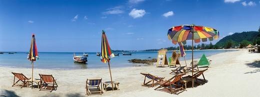 Sandy beach, Klong Dao Beach, Ko Lanta island, Krabi, Thailand, Southeast Asia : Stock Photo