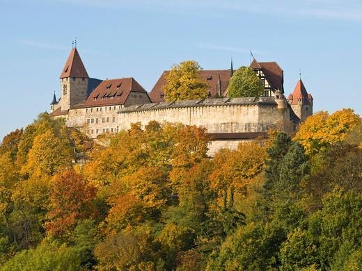 Stock Photo: 1848-491935 Veste Coburg castle, Coburg, Franconia, Bavaria, Germany, Europe