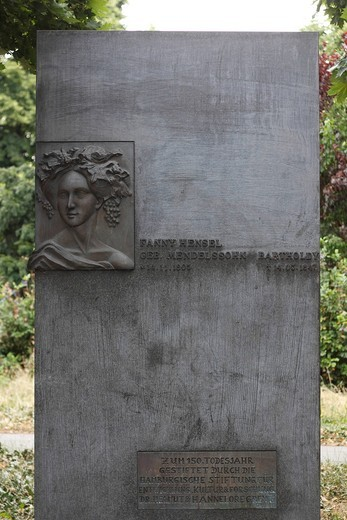 Stock Photo: 1848-492058 Memorial to Fanny Hensel neé Mendelssohn, Hamburg, Germany, Europe