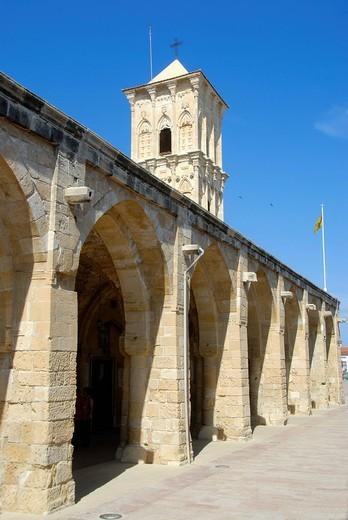Stock Photo: 1848-494147 Greek Orthodox Christianity, Lazarus Church, Agios Lazaros Church, arches and tower, Larnaca, Southern Cyprus, Republic of Cyprus, Mediterranean Sea, Europe