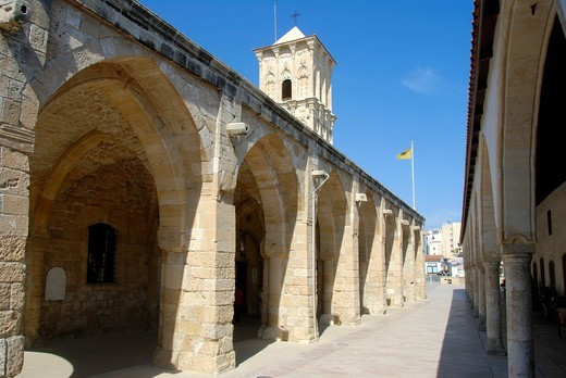 Greek Orthodox Christianity, Lazarus Church, Agios Lazaros Church, arches and tower, Larnaca, Southern Cyprus, Republic of Cyprus, Mediterranean Sea, Europe : Stock Photo