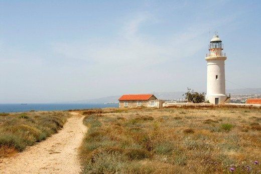 Stock Photo: 1848-494171 Path to the lighthouse, near the Royal Tombs of Nea Paphos, Pafos, Southern Cyprus, Republic of Cyprus, Mediterranean Sea, Europe