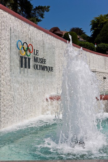 Stock Photo: 1848-495254 The Olympic Museum, opened in 1993 on the initiative of Juan Antonio Samaranch, Lausanne, Canton of Vaud, Lake Geneva, Switzerland, Europe