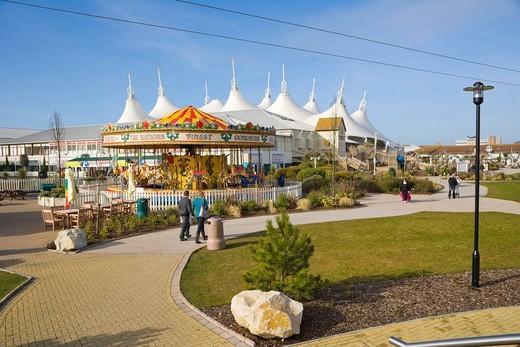 Stock Photo: 1848-495512 Skyline Pavilion and funfair, Butlins, Bognor Regis, Arun, West Sussex, England, United Kingdom, Europe