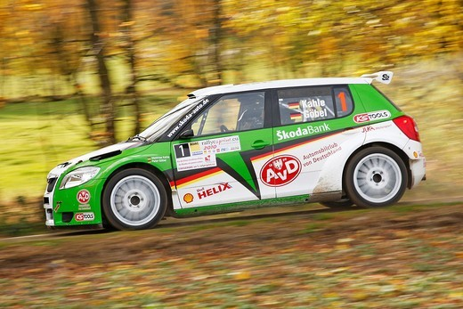 Stock Photo: 1848-495777 Skoda Fabia S2000, driven by Matthias Kahle, German Rally Champion 2010, Rallye Stehr Rallyesprint 2010, Hesse, Germany, Europe