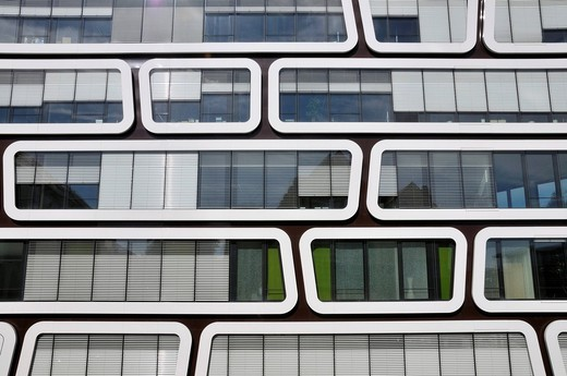 The Z_UP office building developed for Reader´s Digest Germany, Das Beste GmbH publishing house, by Professor Kergassner, Stuttgart, Baden_Wuerttemberg, Germany, Europe : Stock Photo