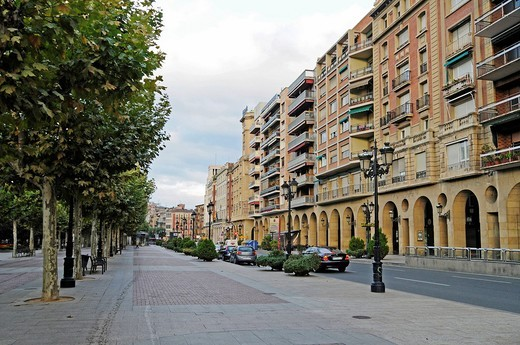 Paseo del Espolon, promenade, Logrono, La Rioja, Spain, Europe : Stock Photo