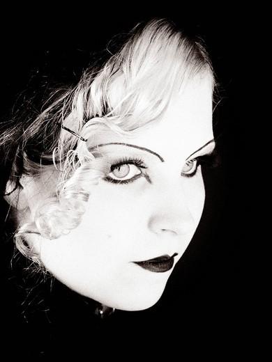 Woman, Gothic style, Retro style : Stock Photo