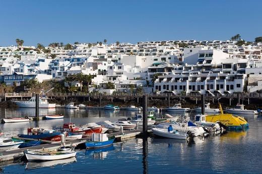 Fishing port, Puerto del Carmen, Lanzarote, Canary Islands, Spain, Europe : Stock Photo