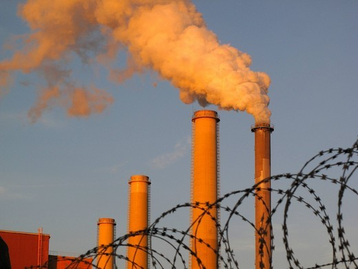 Pollution, coal_fired power plant, Tisová, West Bohemia, Czech Republic, Europe : Stock Photo