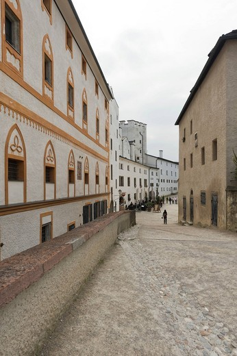 Within the premises of Hohensalzburg Castle, Salzburg, Austria, Europe : Stock Photo