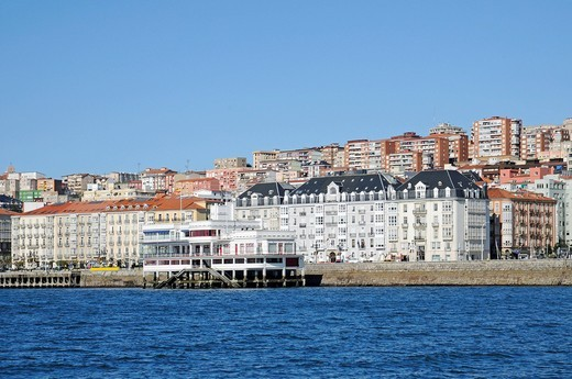 Real Club Maritimo, boat club, waterfront, Santander, Cantabria, Spain, Europe : Stock Photo