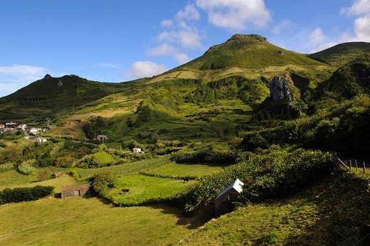 Stock Photo: 1848-497212 Valley of Lajedo on the island of Flores, Azores, Portugal