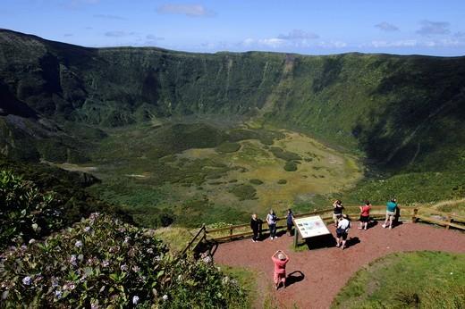 Stock Photo: 1848-497228 Caldeira on the island of Faial, Azores, Portugal