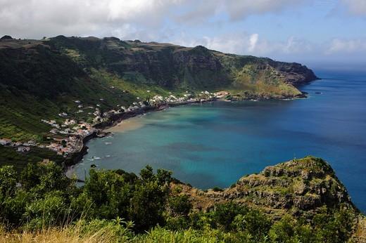 Bay of Sao Lourenco on the island of Santa Maria, Azores, Portugal : Stock Photo