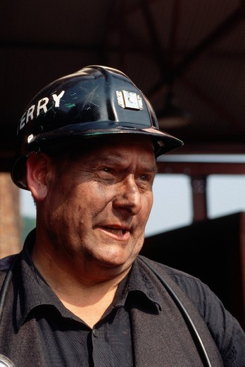 Stock Photo: 1848-497612 Mineworker, Rhondda Heritage Park, a former coal mine, Wales, United Kingdom, Europe