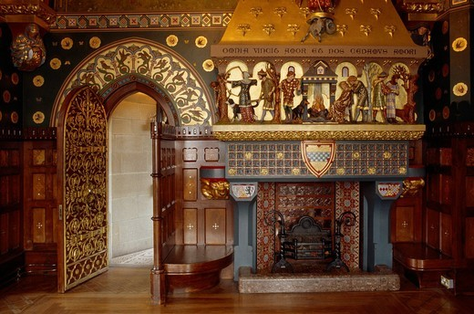 Stock Photo: 1848-497623 Interior view of Cardiff Castle, Cardiff, Wales, United Kingdom, Europe