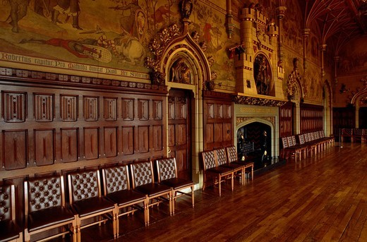 Library at Cardiff Castle, Cardiff, Wales, United Kingdom, Europe : Stock Photo