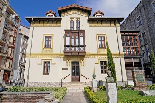 Menendez Pelayo Museum, writer´s house, library, Santander, Cantabria, Spain, Europe : Stock Photo