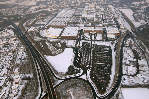 Aerial view, GM Opel plant, Bochum, Ruhrgebiet region, North Rhine_Westphalia, Germany, Europe : Stock Photo