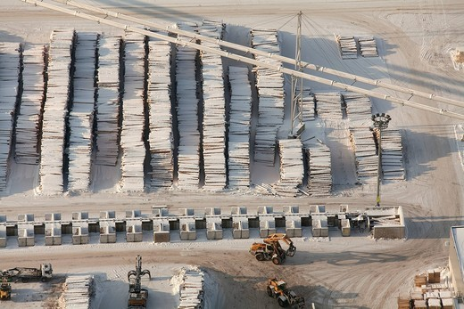 Aerial view, wood piles, sawmill, Egger Holzwerkstoffe Brilon GmbH & Co. KG, Brilon, North Rhine_Westphalia, Germany, Europe : Stock Photo