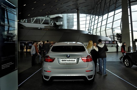 Stock Photo: 1848-4982 BMW X6, BMW_Welt, BMW World, distribution centre and event forum, Munich, Bavaria, Germany, Europe