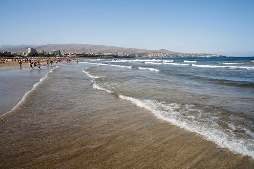 Stock Photo: 1848-498417 Beach Playa del Ingles, Costa Canaria, Gran Canaria, Spain