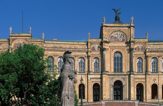 Maximilianeum building home of the Bavarian Landtag bavarian parlliament Munich Germany : Stock Photo