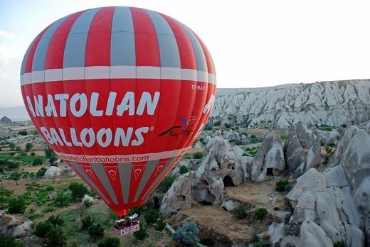 Hot_air ballon, Cappadocia, Turkey : Stock Photo