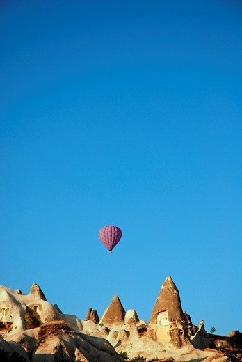 Hot_air ballon, Cappadocia, Turkey : Stock Photo