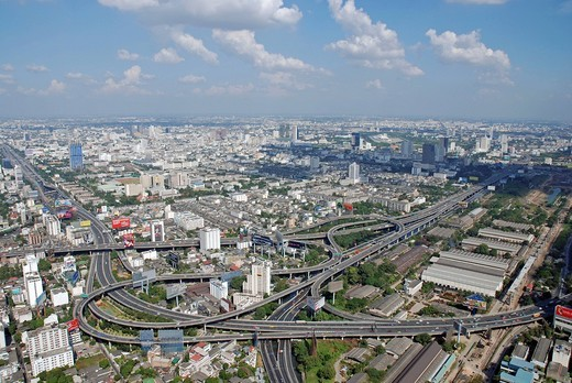 Look from the Baiyoke tower, topmost building of Thailand, Bangkok, Thailand, Asia : Stock Photo